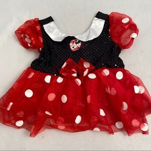 Disney Minnie Mouse red/black dress 18 mo